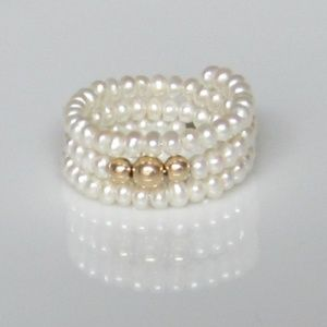 Vintage Pearl Coil Ring